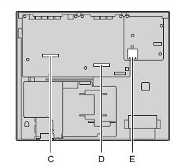 Блок расширения NS500 внутренний вид KX NS520RU