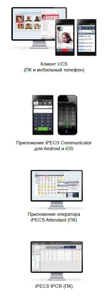 Приложения eMG80 IPECS MG