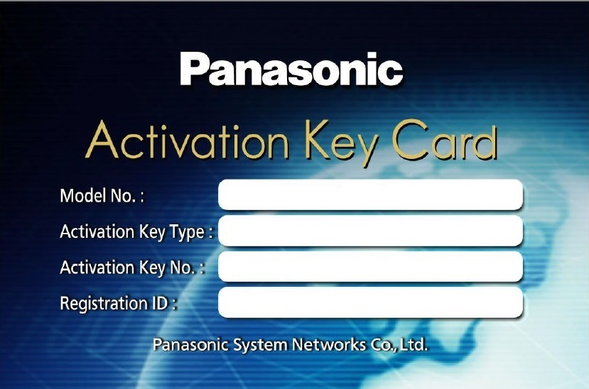Activation Key Card KX NCS3701WJ