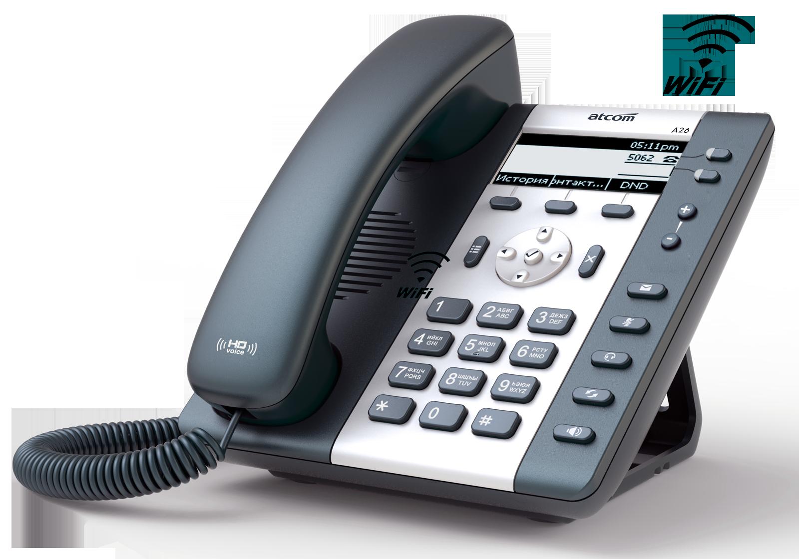 ATCOM A20W Wi Fi SIP телефоны