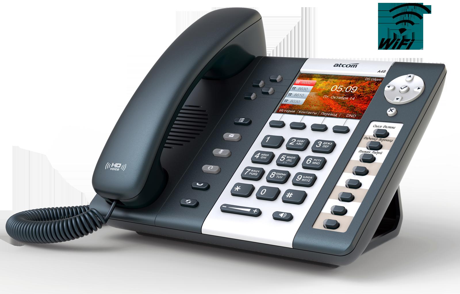 ATCOM A48W Wi Fi SIP телефоны