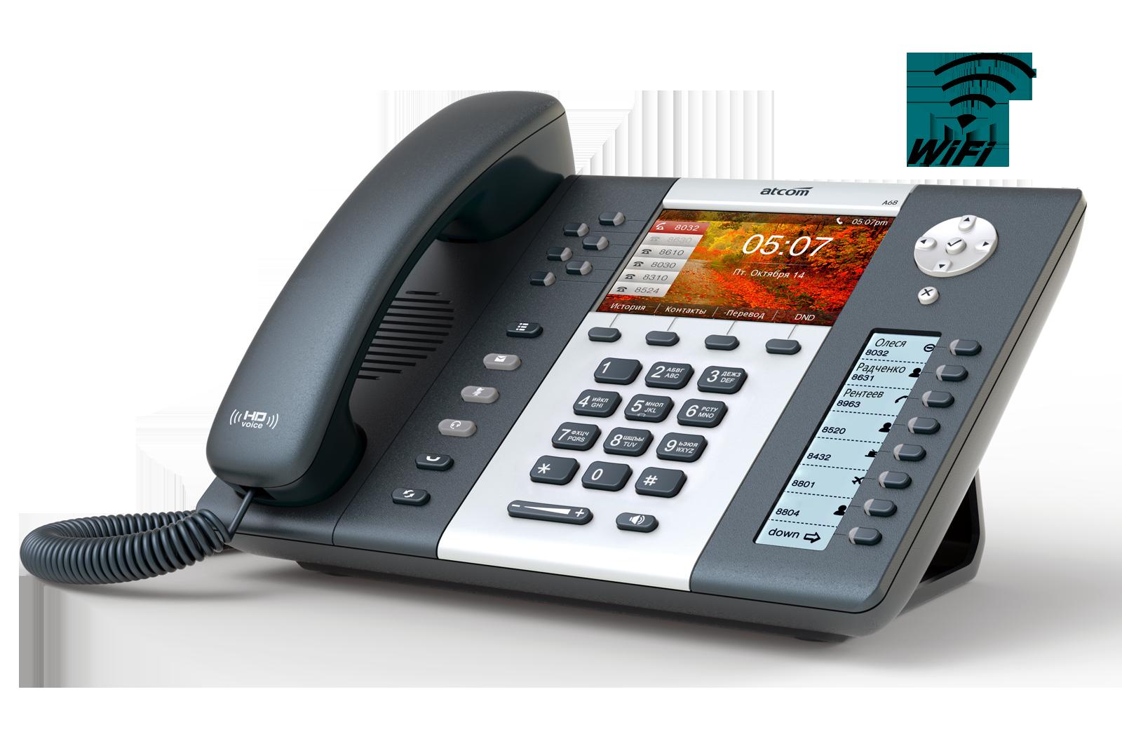 ATCOM A68W Wi Fi SIP телефоны