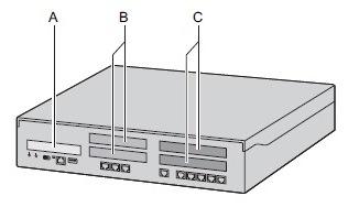 Основной блок NS500 (вид спереди)